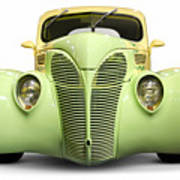 Hot Rod Ford Coupe 1938 Art Print