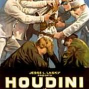 Houdini In The Grim Game 1919 Art Print