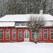 Hovdala Castle Orangery In Winter Art Print