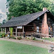 Huffman Log Cabin Art Print
