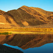 Ibex Hills Reflection Art Print