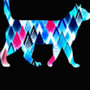 Ice Triangles Cats Art Print