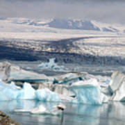 Iceland Glacier Lagoon Art Print by Ambika Jhunjhunwala