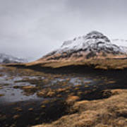 Icelandic  Mountain Landscape Art Print