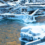 Icy Blue River Art Print