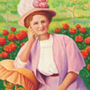 Ida In The Garden Art Print