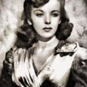 Ida Lupino, Vintage Actress Art Print