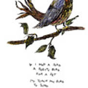 If I Had A Bird Art Print