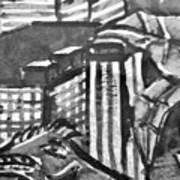 Iguana City Art Print