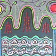 Ilwolobongdo Abstract Landscape Painting Art Print