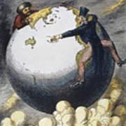 Imperialism Cartoon, 1876 Art Print by Granger