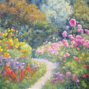 In Monets Footsteps Art Print
