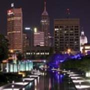 Indianapolis Canal View Art Print