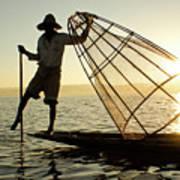 Inle Lake Fisherman Art Print