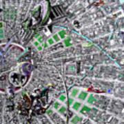 Inside Orbital City Art Print