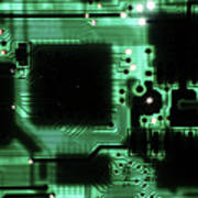Integrated Circuit Board From A Computer Art Print