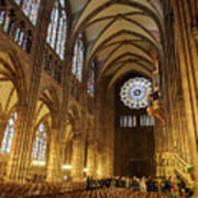 Interior Of Strasbourg Cathedral Art Print