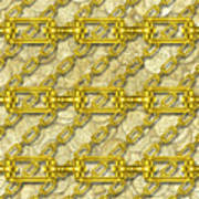 Iron Chains With Money Seamless Texture Art Print