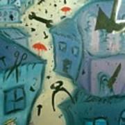 It Is Raining In My Little Village Art Print