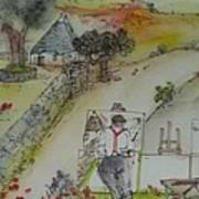 Italian  Landscape Scroll Art Print