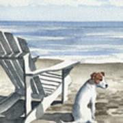 Jack Russel Terrier At The Beach Art Print