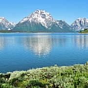 Jackson Lake Teton Panorama Art Print