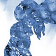 Jane And Tarzan-blue Art Print