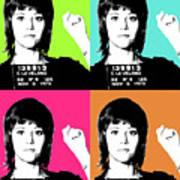 Jane Fonda Mug Shot X4 Art Print