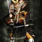 Japanese Samurai Doll Art Print