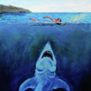 Jaws  Revisited Art Print