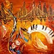 Jazz City Art Print by Mark Kazav