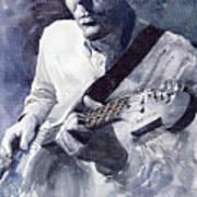 Jazz Guitarist Rene Trossman  Art Print by Yuriy  Shevchuk