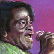Jazz. James Brown. Art Print by Yuriy  Shevchuk