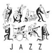 Jazz Art Print by Sean Hagan