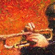 Jazz Trumpeter Art Print