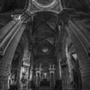 Jerez De La Frontera Cathedral Dome From Inside Cadiz Spain Art Print