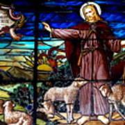 Jesus And Lambs Art Print