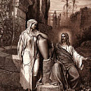 Jesus And The Woman Of Samaria Art Print