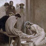 Jesus Washing The Feet Of His Disciples Art Print