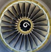 Jet Engine Detail. Print by Fernando Barozza