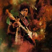 Jimi Hendrix 01 Art Print