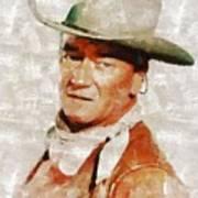 John Wayne By Mary Bassett Art Print