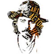 Johnny Depp Movie Titles Art Print
