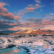 Jokulsarlon Glacier Lake - Iceland Art Print