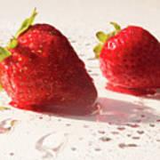 Juicy Strawberries Art Print