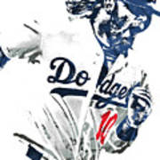 Justin Turner Los Angeles Dodgers Pixel Art Art Print