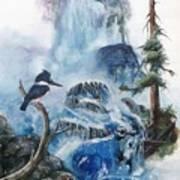 Kingfisher's Realm Art Print