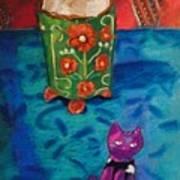 Kitty Still Art Print