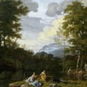 Klassische Landschaft Mit Arkadischer Art Print