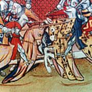 Knights In Tournament Art Print